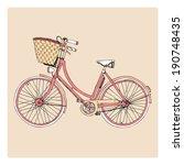 Hand Drawn Lady's City Bike...