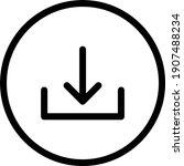 round vector thin line icon