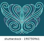 beaded element   Shutterstock .eps vector #190750961