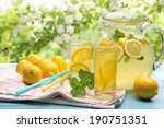 citrus lemonade summer drink. | Shutterstock . vector #190751351