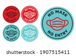 no mask no entry sign. warning...   Shutterstock .eps vector #1907515411