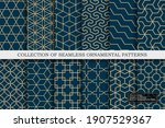 collection of seamless... | Shutterstock .eps vector #1907529367