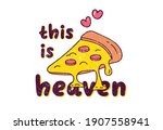 melted cheese pizza graphic...   Shutterstock . vector #1907558941