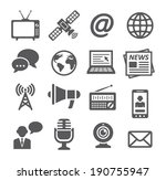 media icons | Shutterstock .eps vector #190755947