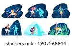 vr for sport and training...   Shutterstock .eps vector #1907568844