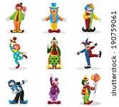 A Vector Illustration Of Clown...