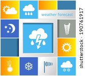 info graphic weather abstract...