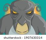Monkey Monster Vector...