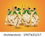 happy onam greetings... | Shutterstock .eps vector #1907631217