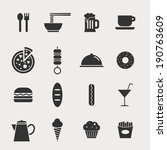 food vector icon set   Shutterstock .eps vector #190763609