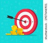 financial target goal concept... | Shutterstock .eps vector #1907646901