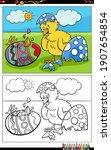 cartoon illustration of easter... | Shutterstock .eps vector #1907654854