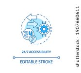24 to 7 accessibility concept... | Shutterstock .eps vector #1907660611
