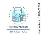 Test Preparation Concept Icon....
