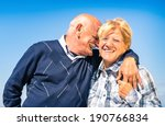 happy senior couple in love...   Shutterstock . vector #190766834
