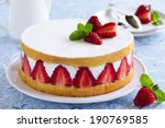 Sponge Cake With Strawberries...