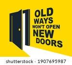 half open door vector concept...   Shutterstock .eps vector #1907695987