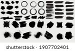 big collection of black paint ... | Shutterstock .eps vector #1907702401