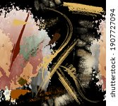 textured abstract grunge... | Shutterstock .eps vector #1907727094