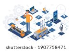 industry automation production... | Shutterstock .eps vector #1907758471