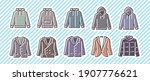 10 icon set  clothing ... | Shutterstock .eps vector #1907776621