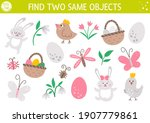 find two same objects. easter... | Shutterstock .eps vector #1907779861