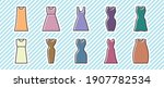 10 icon set  women's clothing  | Shutterstock .eps vector #1907782534