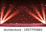 stage podium with lighting ...   Shutterstock .eps vector #1907795884