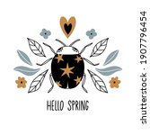 hello spring. card  poster with ... | Shutterstock .eps vector #1907796454
