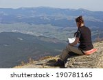 young women backpacker sitting... | Shutterstock . vector #190781165