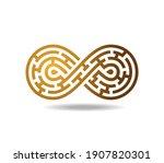 golden mobius loop in shape of...   Shutterstock .eps vector #1907820301