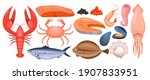 Seafood Menu Vector...