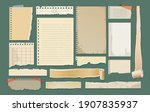 old paper scrapbook elements.... | Shutterstock .eps vector #1907835937