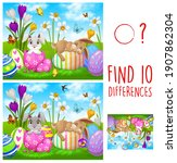 kids game find ten differences... | Shutterstock .eps vector #1907862304