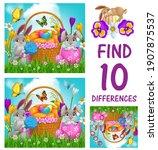 kids game of find ten... | Shutterstock .eps vector #1907875537