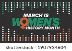 women's history month.... | Shutterstock .eps vector #1907934604