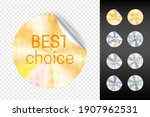 foil stickers. retail gold and... | Shutterstock . vector #1907962531