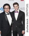 Small photo of New York, NY - May 03, 2014: Stafford Arima and Noam Ash attend the 25th Annual GLAAD Media Awards at Waldorf Astoria