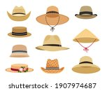 farmers gardening hats. asian... | Shutterstock . vector #1907974687