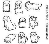 vector set of dog | Shutterstock .eps vector #190797569