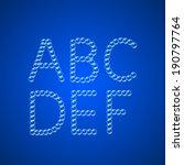 alphabet of air bubbles on dark ... | Shutterstock .eps vector #190797764
