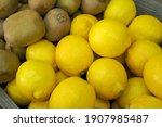 Lemons And Kiwis At The Market...