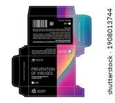 design of cardboard packaging... | Shutterstock .eps vector #1908013744