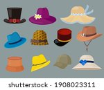 hats. fashion clothes for... | Shutterstock . vector #1908023311