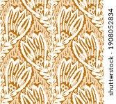 watercolor orange flower motif...   Shutterstock . vector #1908052834
