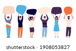 people with speech bubbles.... | Shutterstock . vector #1908053827