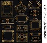 art deco vintage frames and... | Shutterstock .eps vector #190818515