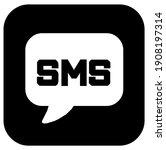 sms sign  box  lettering ... | Shutterstock .eps vector #1908197314