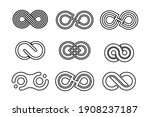 infinity line logo variation...   Shutterstock .eps vector #1908237187