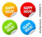 happy hour icon | Shutterstock .eps vector #190830071